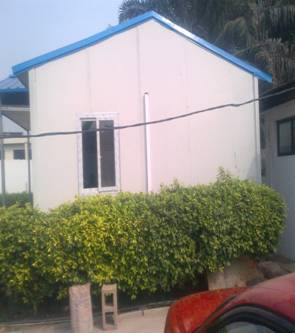 Construction of Prefabricated building at GRA Ikeja